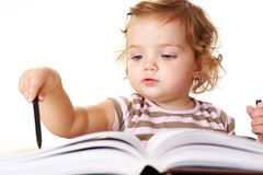 Cute reader Stock Images