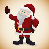 Cute Realistic Santa , Vector Illustration Stock Photography