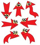 Cute red arrows. Vector illustration Royalty Free Stock Photography