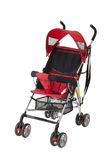 Cute red baby pram Royalty Free Stock Photo