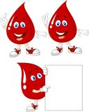 Cute red blood cartoon collection set Stock Image