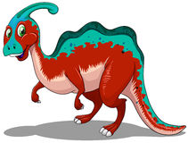 Cute red and blue dinosaur on white Royalty Free Stock Photography