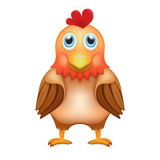 Cute red brown rooster in front view Stock Image