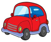 Cute red car Royalty Free Stock Images