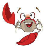 Cute red crab  illustration. Cartoon Stock Photography