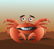 Cute red crab Royalty Free Stock Photography