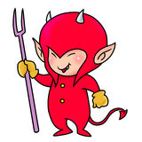 Cute red demon boy Stock Photos
