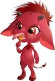 Cute red devil Stock Photo