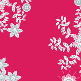 Cute red floral card with place for text vector Royalty Free Stock Photography