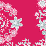 Cute red floral card with place for text vector Stock Image