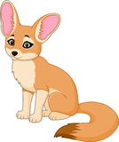 Cute red fox sitting. Illustration of Cute red fox sitting Royalty Free Stock Photo