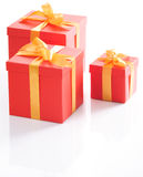 Cute red gift boxes Stock Image