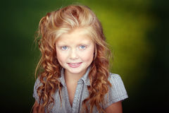 Cute red hair girl - close up Stock Photos