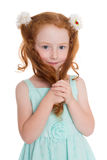 Cute red haired girl Royalty Free Stock Images