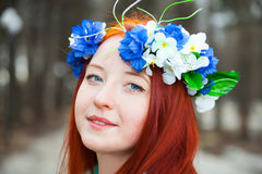 Cute red-haired girl Royalty Free Stock Photo