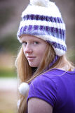 Cute red haired teenager outdoors Stock Photo