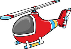 Cute Red Helicopter Vector Stock Image