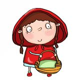 Cute red hooded girl Stock Images