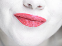 Cute red lips Royalty Free Stock Image