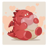 Cute red monster Stock Photos