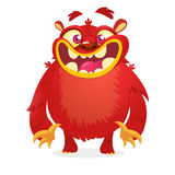 Cute red monster. Vector cartoon Halloween character. Royalty Free Stock Image