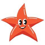 Cute Red Starfish royalty free illustration