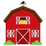Cute Red Vector Barn Royalty Free Stock Images