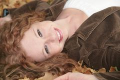Cute redhaired woman Stock Photos