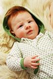 Cute redhead baby Stock Image