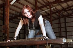 Cute Redhead in a Derelict Building (4) Stock Photos