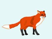 Cute redhead fox Stock Photo