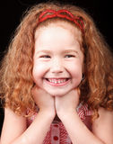 Cute redhead girl Stock Images
