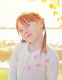 Cute redhead little girl Stock Photos