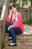 Cute Redhead Outdoors Stock Image