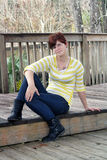 Cute Redhead Outdoors Royalty Free Stock Image