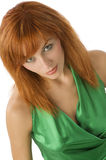 Cute redhead portrait stock photos