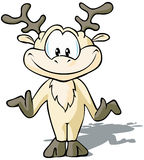 Cute Reindeer Stock Photo
