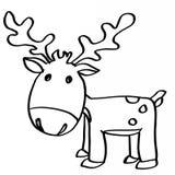 Cute reindeer cartoons coloring stock illustration