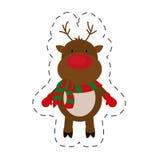 Cute reindeer christmas image Stock Photography