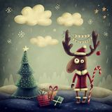 Cute reindeer Stock Image