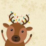 Cute Reindeer for Merry Christmas celebration. Stock Image