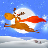 Cute reindeer for Merry Christmas celebration. Royalty Free Stock Photo