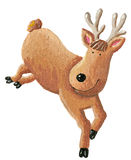 Cute reindeer running Royalty Free Stock Photos