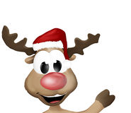 Cute Reindeer Says Hello Hi Royalty Free Stock Photos