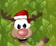 Cute Reindeer Says Hello Hi Royalty Free Stock Image