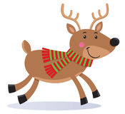 Cute Reindeer Wearing A Scarf Royalty Free Stock Image