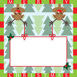 Cute reindeers Stock Image