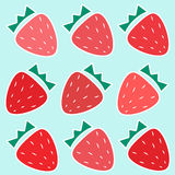 Cute Repeating Strawberry Vector Pattern. Stock Photos
