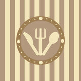 Cute restaurant background Stock Images