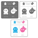 Cute restroom signs Royalty Free Stock Photography